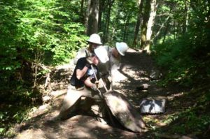 Trails Forever works crew - Chimney Tops Trail. Photo by Jack Williams
