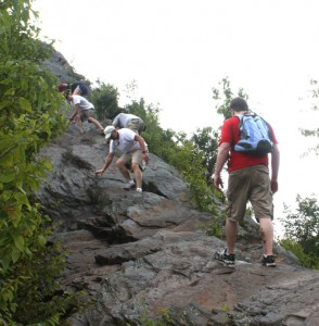 Top of Chimney Tops Trail, Photo by Julie Dodd
