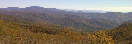 Clingmans Dome as seen from Rocky Top