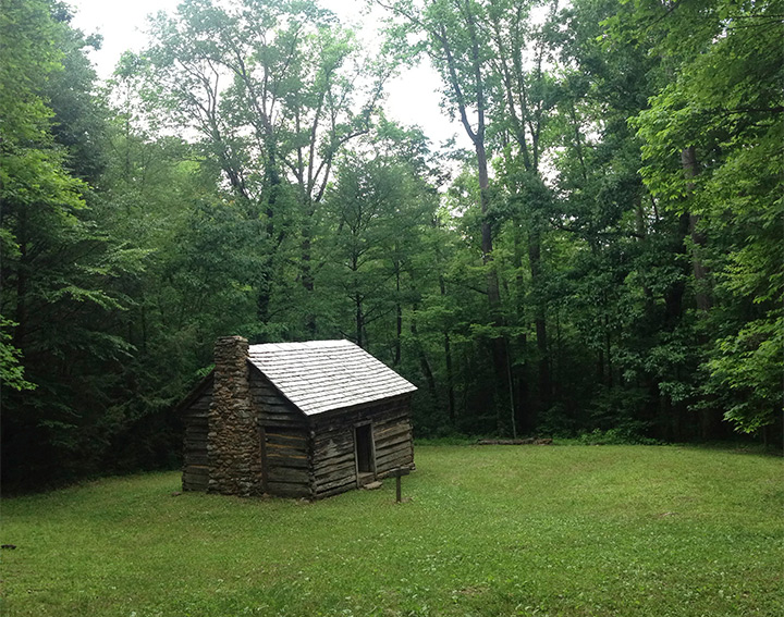 Baxter Cabin along Maddron Bald Trail, Great Smoky Mountains National Park