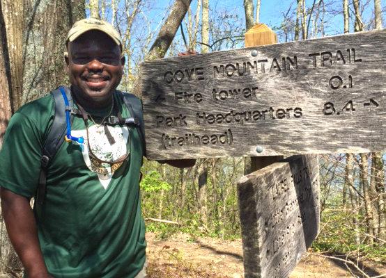 Superintendent Cash Hiking Cove Mountain Trail