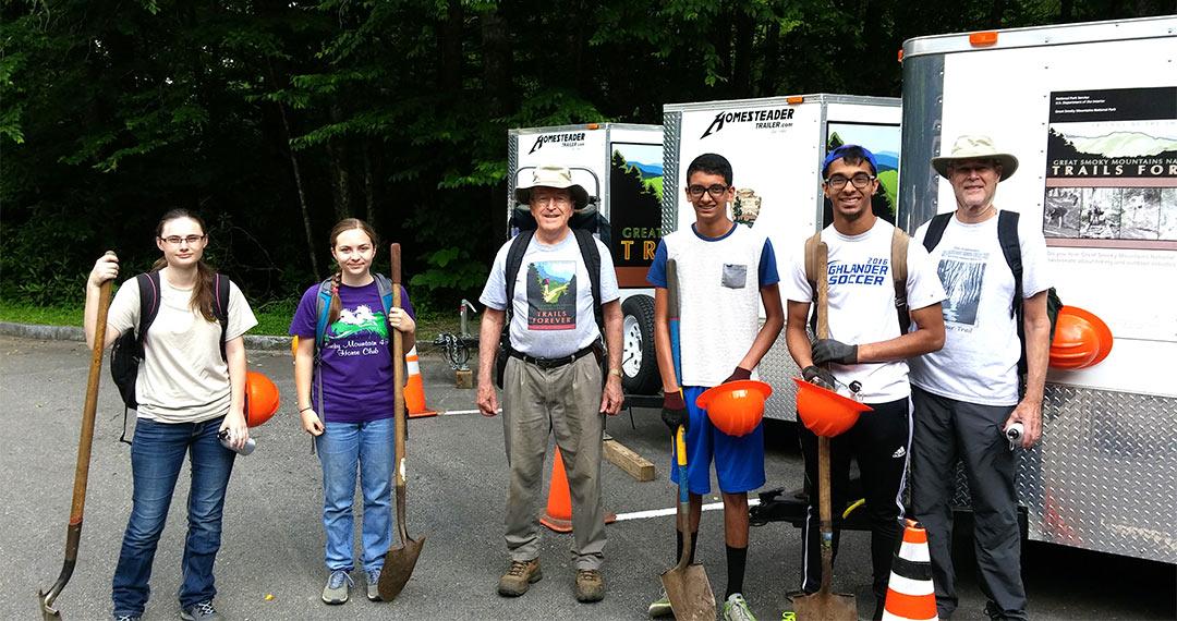 Trails Forever volunteers, June 22, 2016