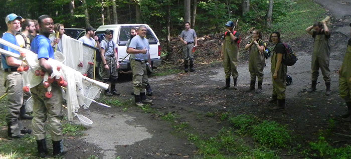 GSMNP Interns in gear to work with Fisheries