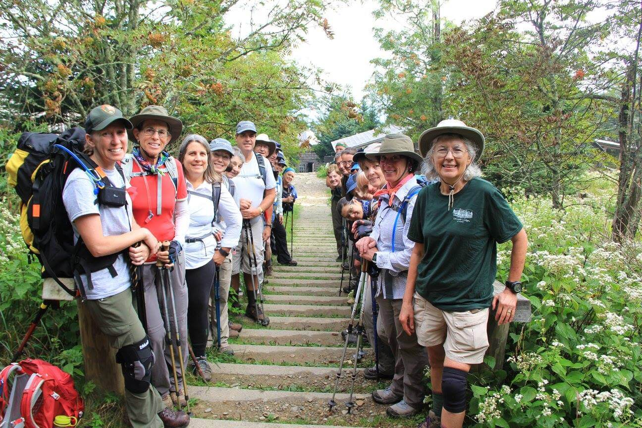 Classic Hike group - LeConte Lodge - August 2016