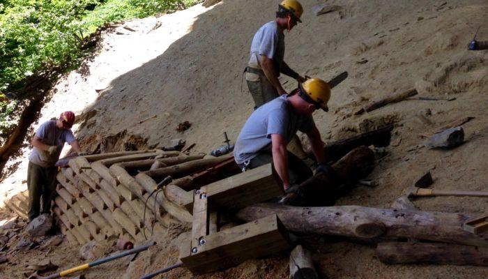 Alum Cave Bluffs stair work