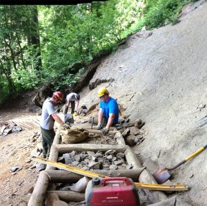 Trails Forever Crew working on Alum Cave Stairs