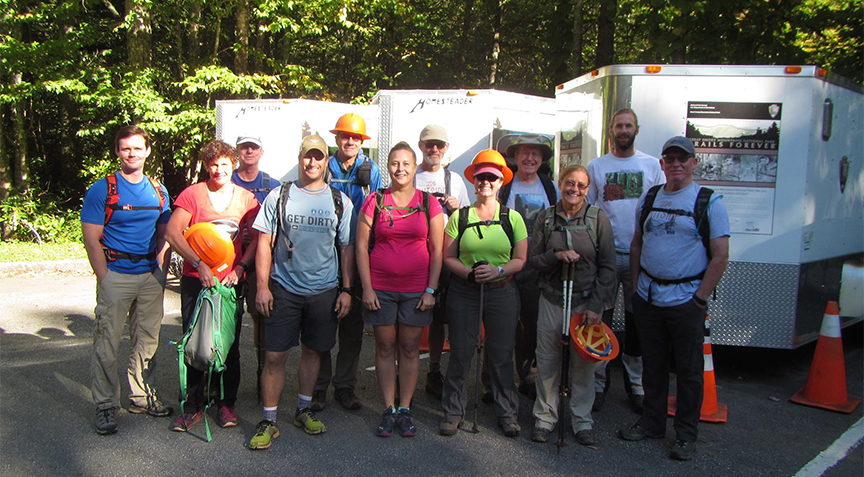 Alum Cave Trail volunteers