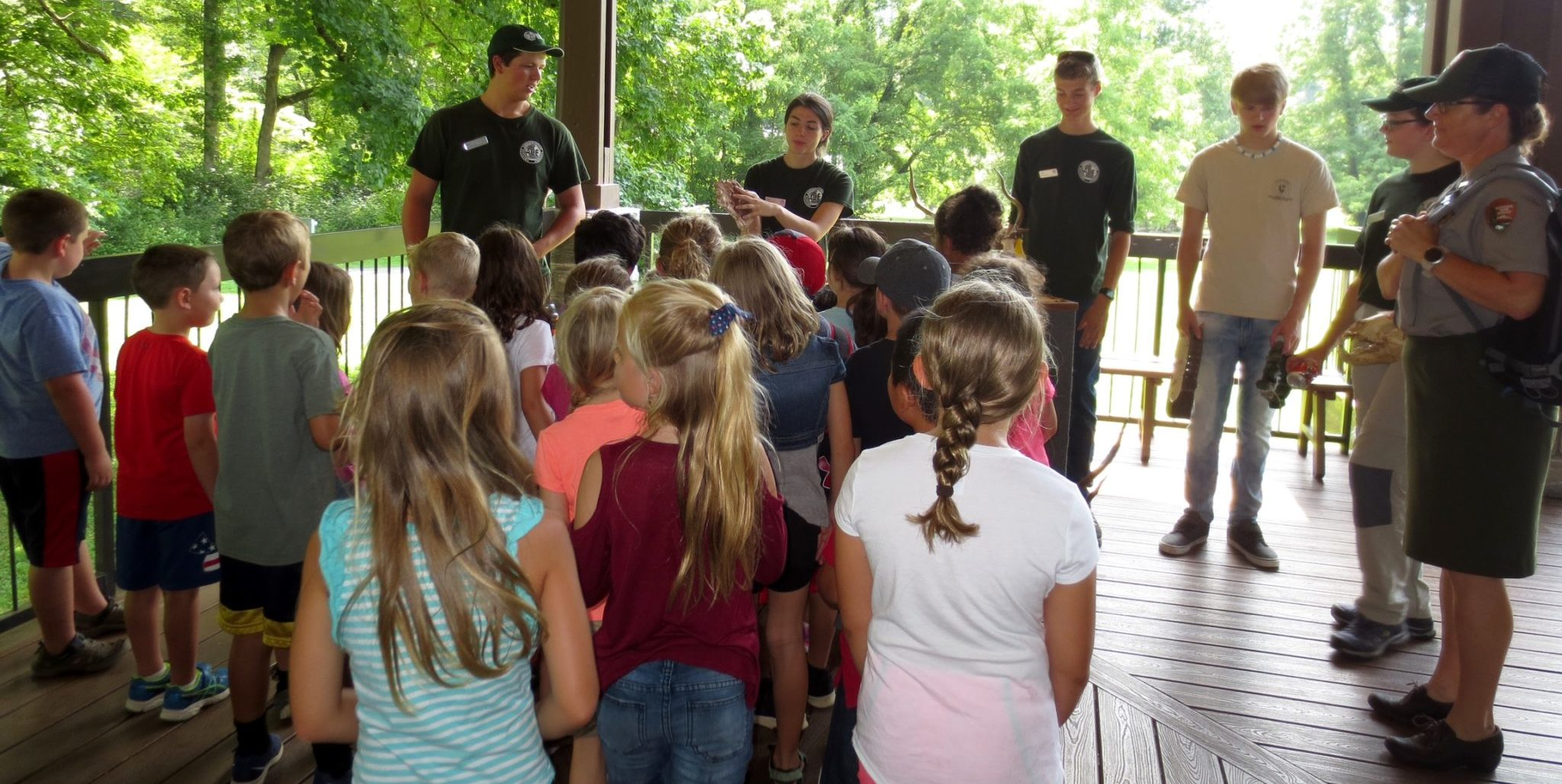 GSMNP interns lead interpretive session - NPS photo