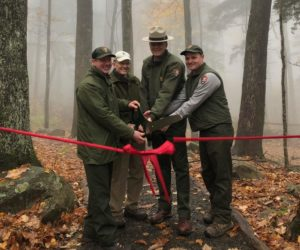 Rainbow Falls ribbon cutting ceremony - NPS photo