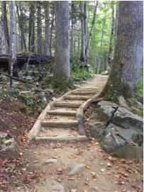 Rainbow Falls Trail - after restoration
