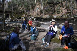 Lunch on Big Creek Trail hike