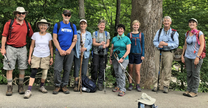 FOTS hikers for Roundtop Trail hike