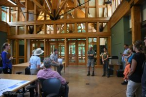 Tom Remaley in Twin Creeks Science and Education Center