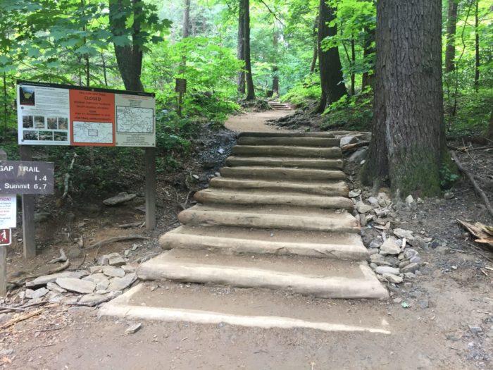 Trillium Gap Trail after restoration work - Photo by Josh Shapiro