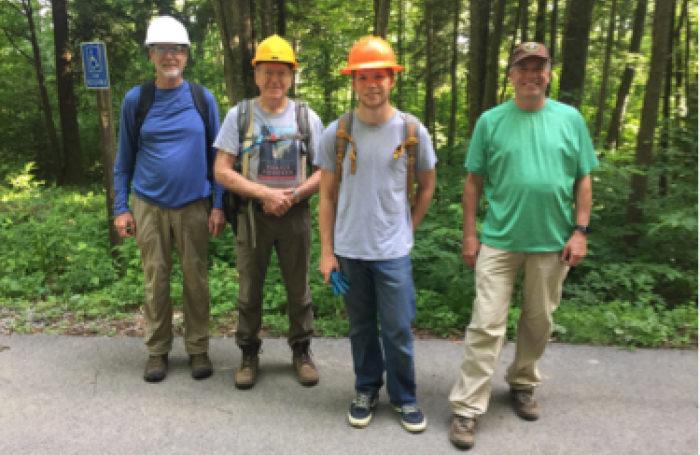 Wednesday volunteers for Trillium Gap restoration - photo by Josh Shapiro