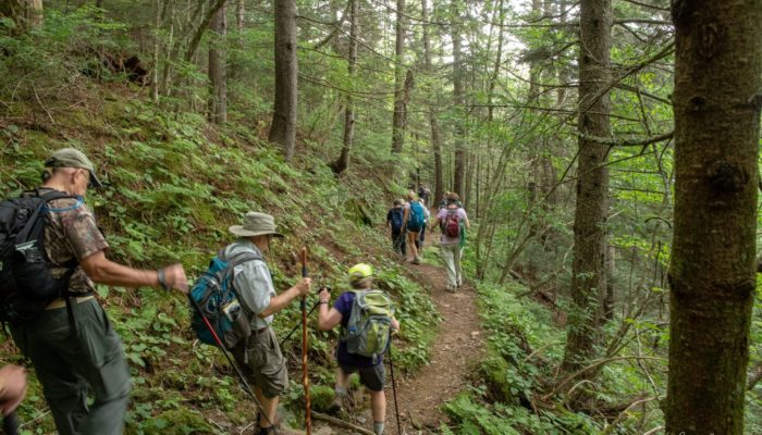 Hikers on Kephart Trail
