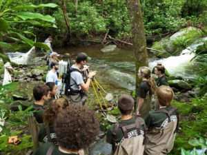 Caleb Abramson and GSMNP high school interns