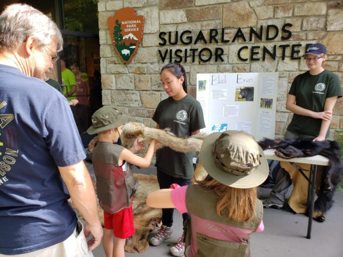 GSMNP interns at Sugarlands Visitor Center