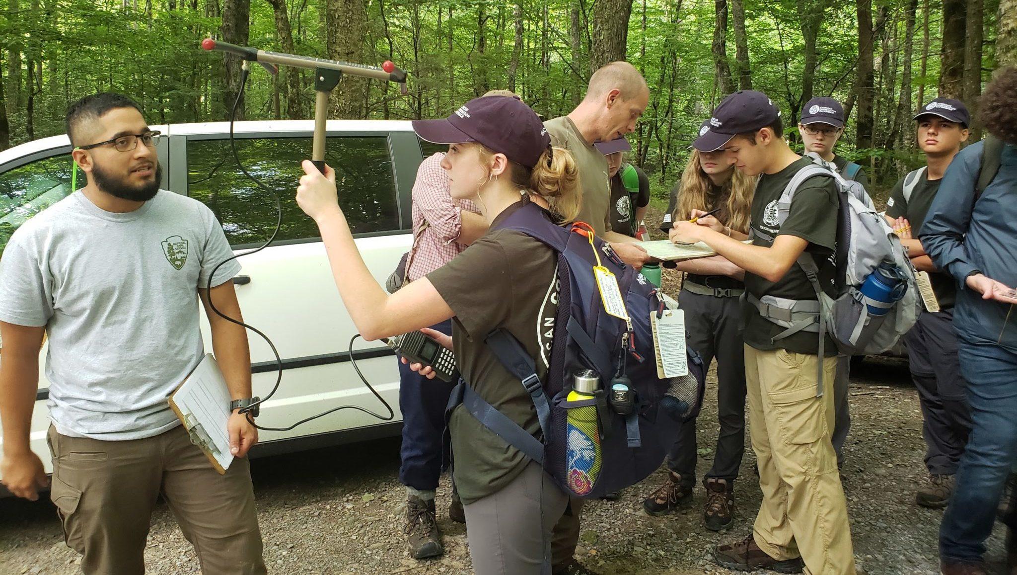 interns using telemetry equipment