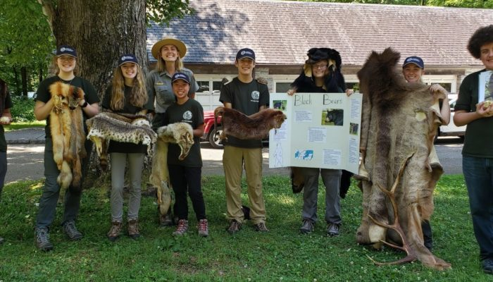 GSMNP interns displaying interpretation projects