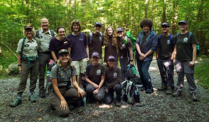 Interns, rangers and educators in GSMNP
