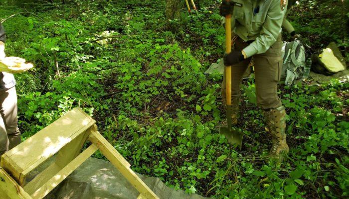 GSMNP archaeologist digging