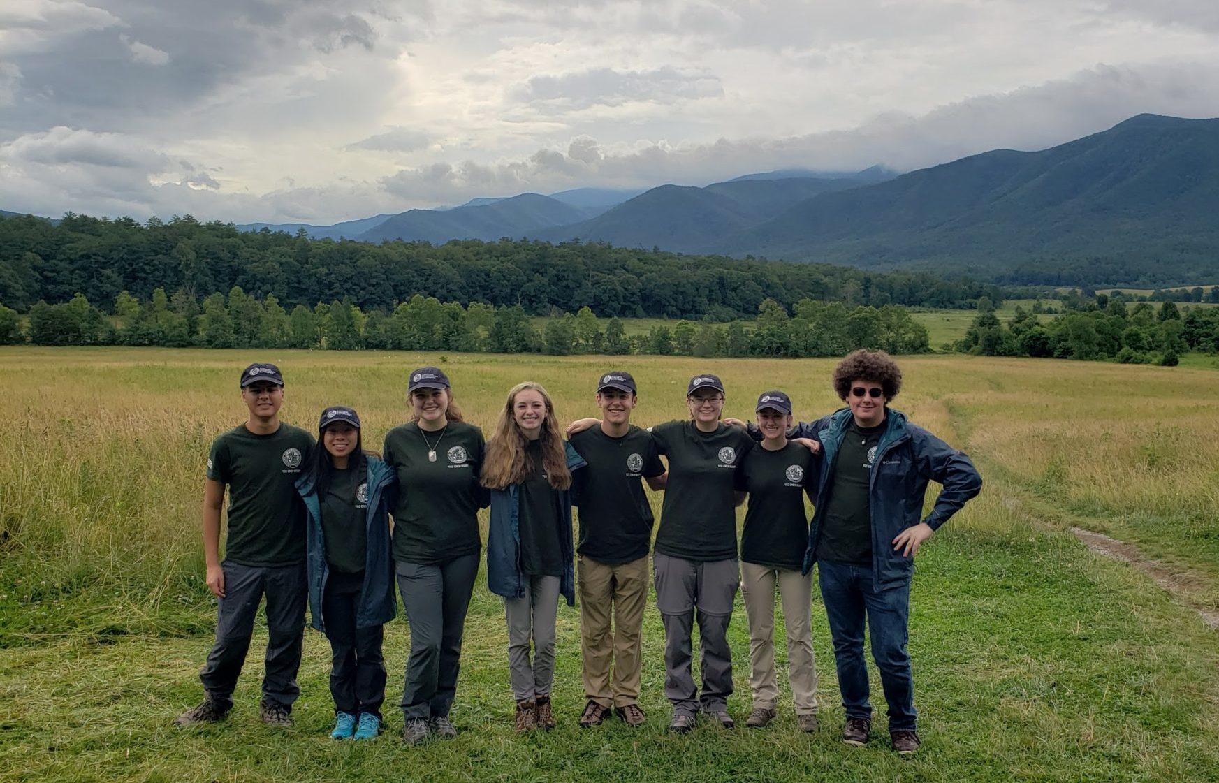 GSMNP high school Tennessee interns 2019