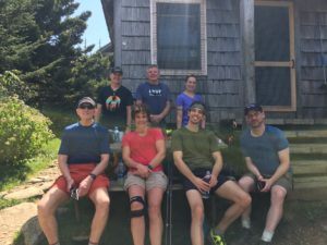 hikers at LeConte Lodge