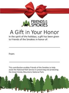 Holiday Gift Donation Certificate