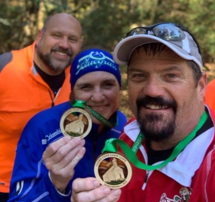 Cades Cove Loop Lope 2019 finisher medals