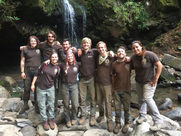 ACE crew for Trillium Gap restoration 2019