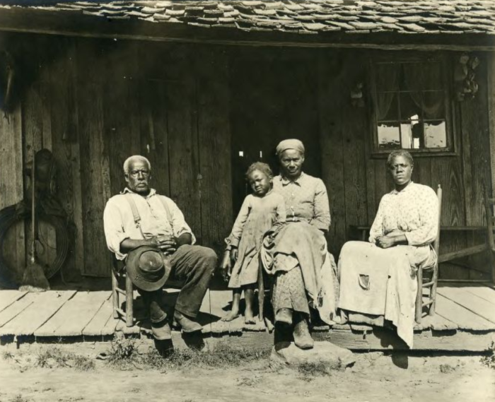 African-Americans on porch in Great Smoky Mountains Circa 1890-1903 - W.O. Garner Collection