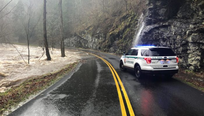 flooding in GSMNP Feb 6, 2020 - NPS