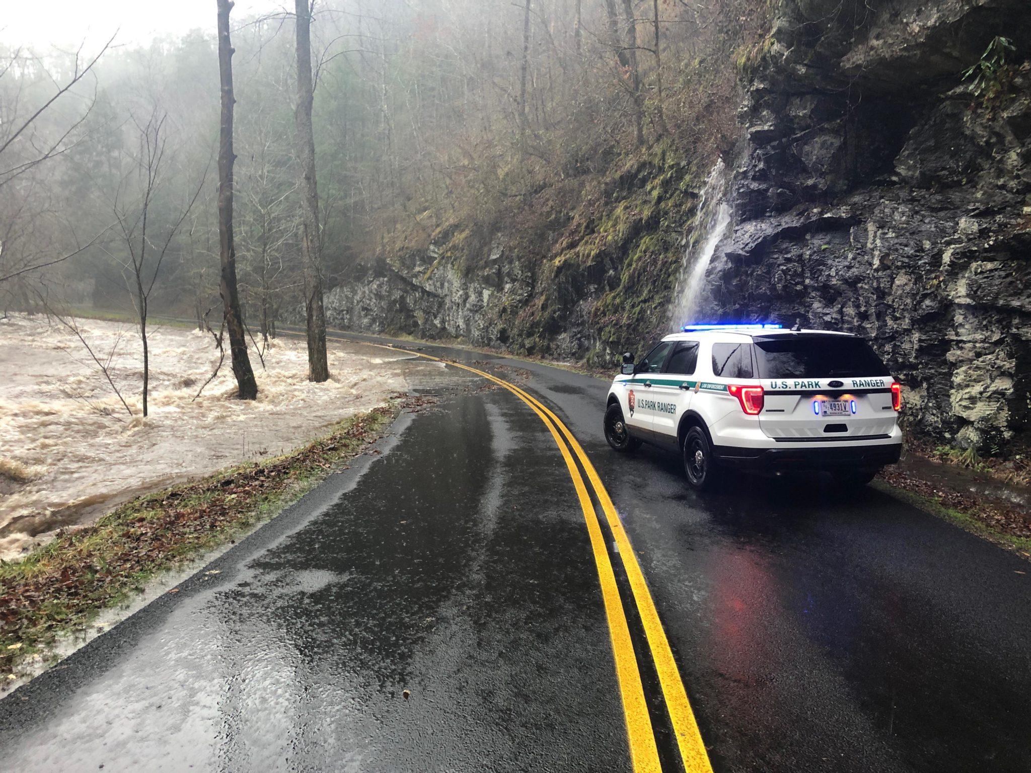 flooding in GSMNP Feb 6, 2020 - NPS