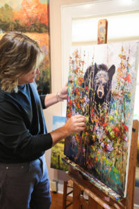 Robert A. Tino painting Bearfootin
