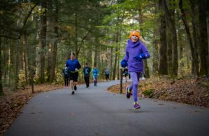 runners in Cades Cove Loop Lope 2019