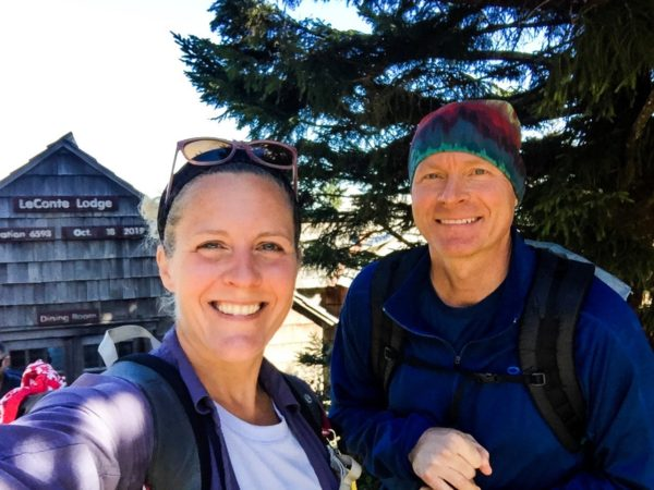 Nancy East and Chris Ford at LeConte Lodge
