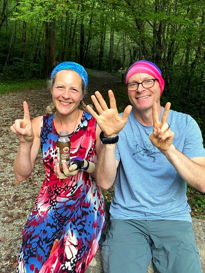 Nancy East and Chris Ford on Day 17 of Tour de Smokies