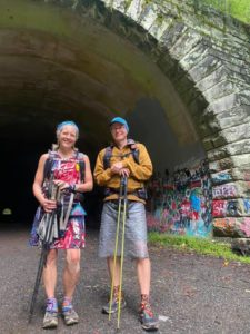 Nancy East and Chris Ford at the Tunnel to Nowhere