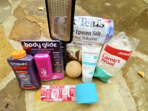 foot supplies for hikers