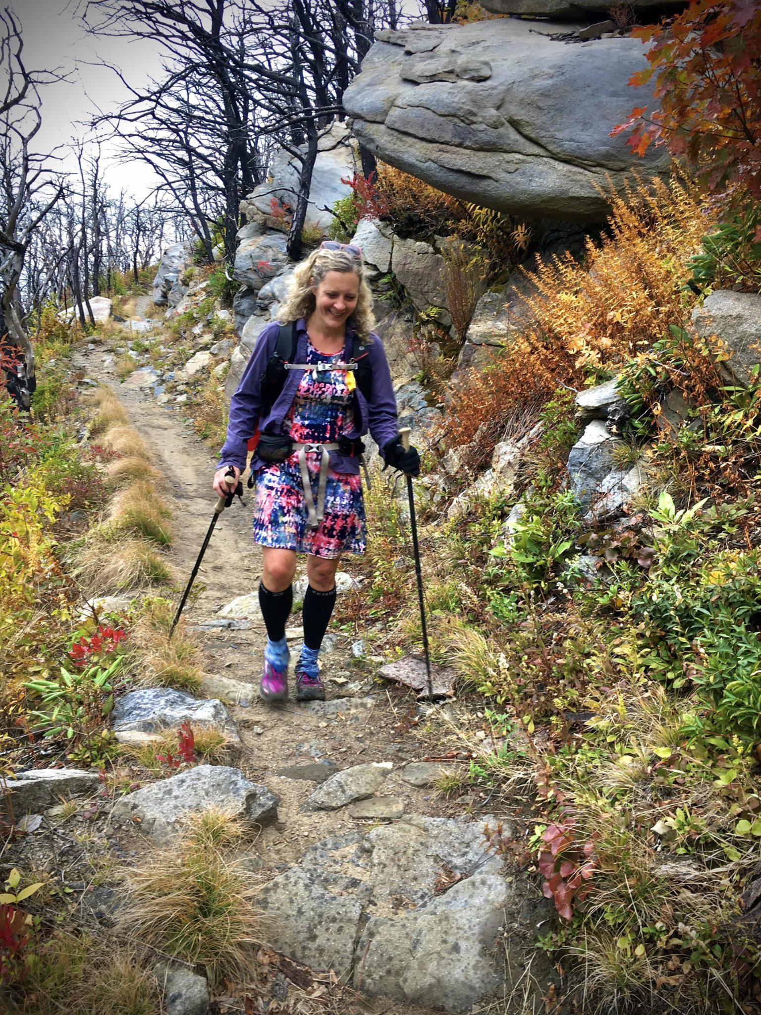 Nancy East hiking