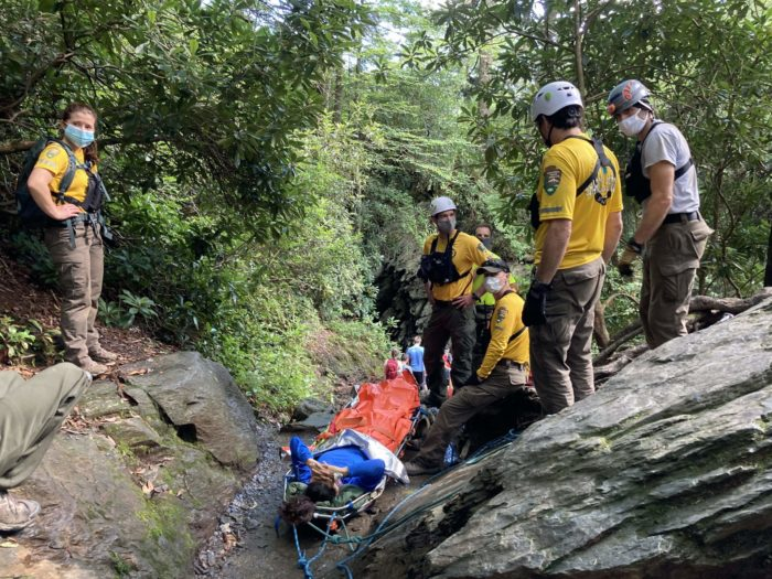 Search and rescue effort at Arch Rock