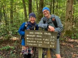 Nancy East and Chris Ford complete their Tour de Smokies