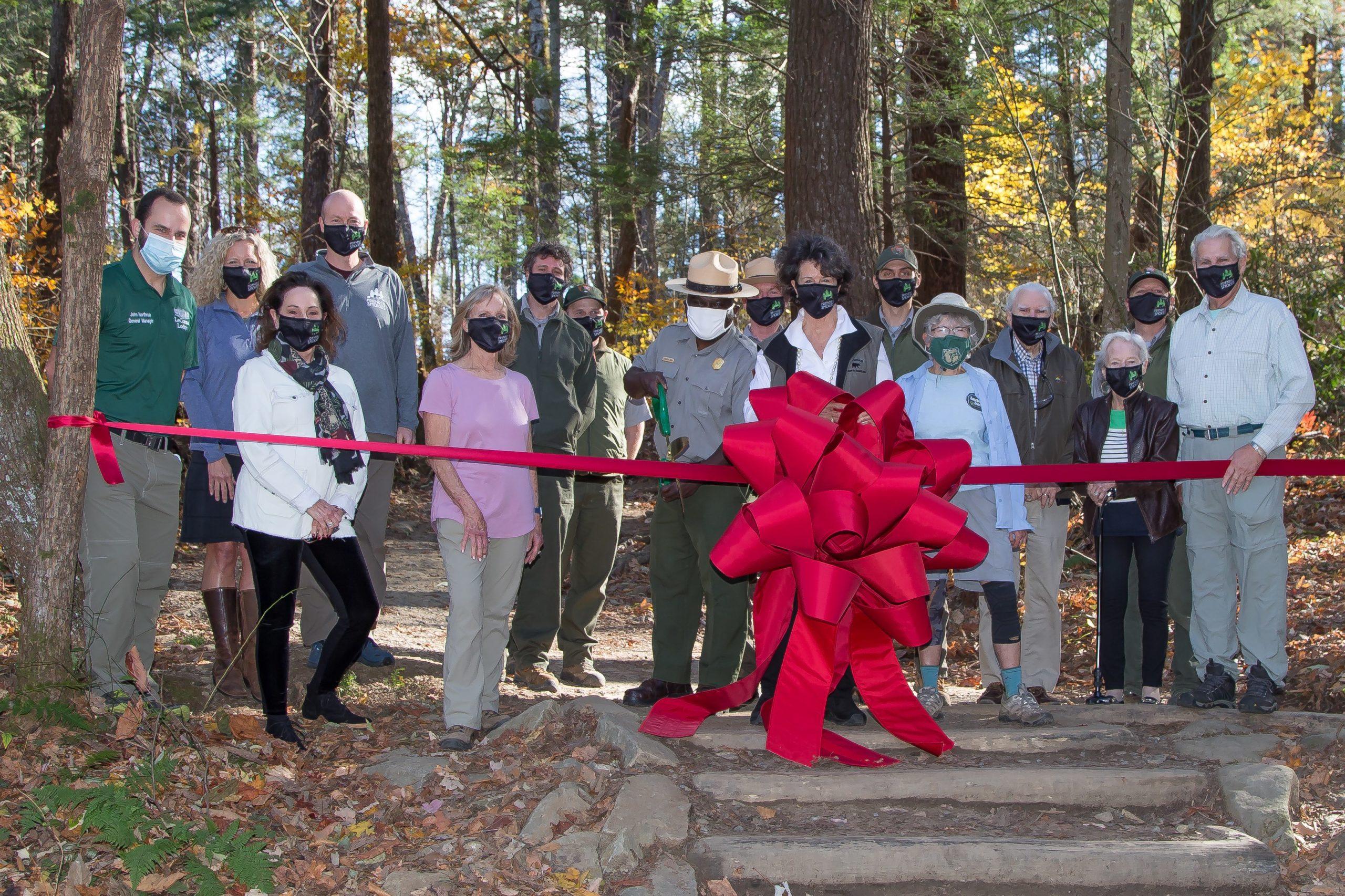 Trillium Gap Trail re-opening ceremony