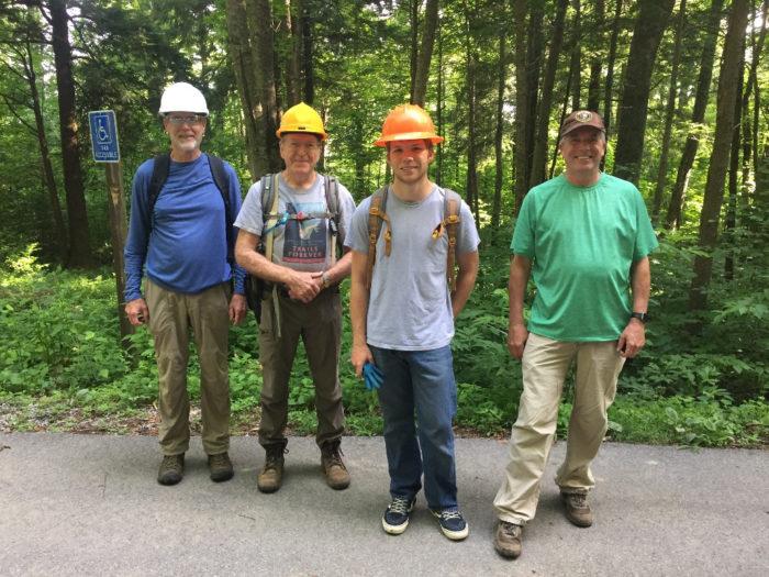 volunteers for Trillium Gap Trail restoration