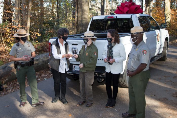 presentation of GSMNP search and rescue truck