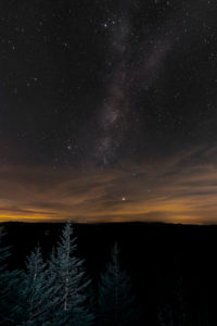 Milky Way above Clingman's Done - photo by Phoenix