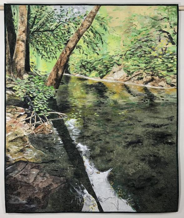 Nancy Hershberger's Water Dance 1 art quilt