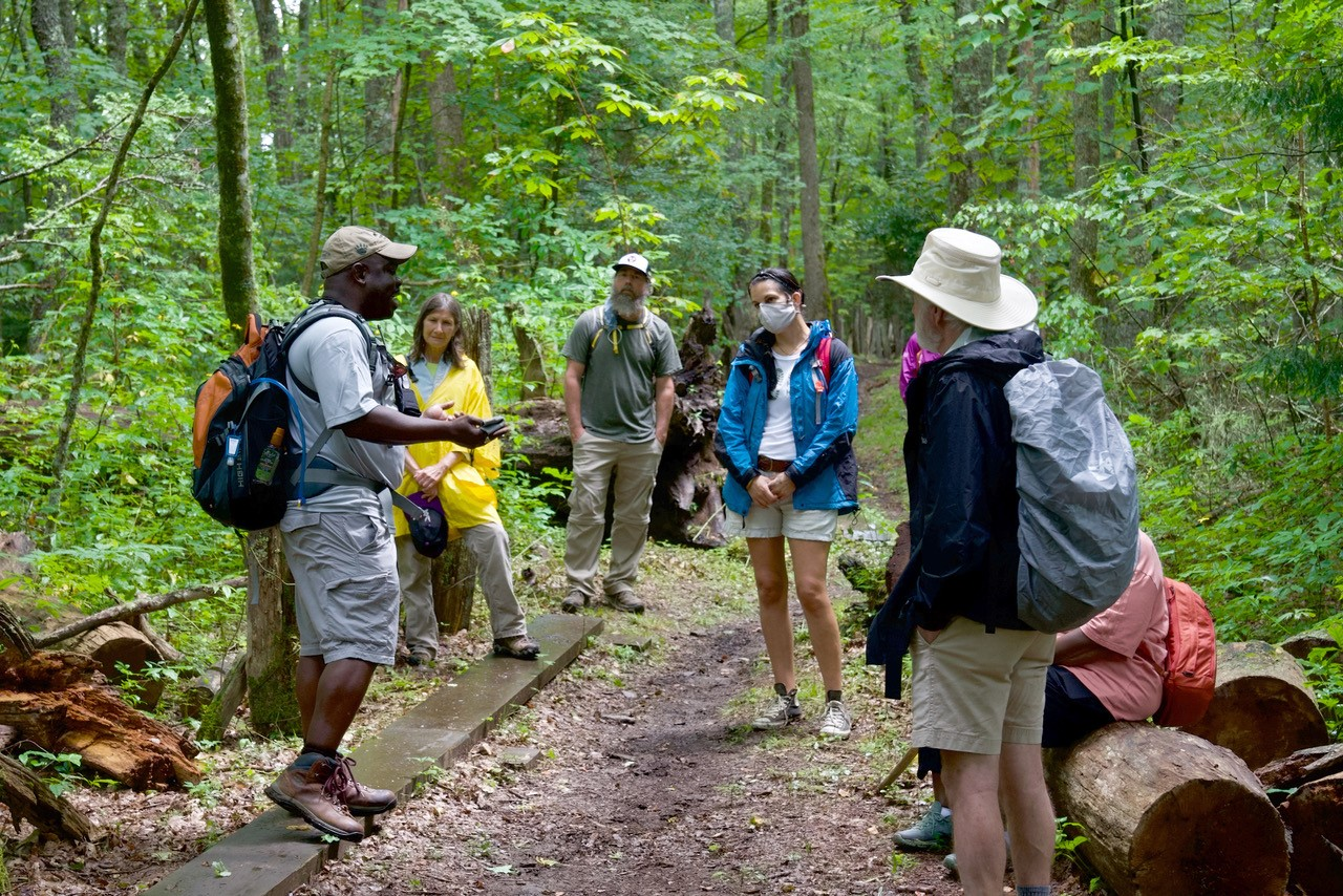 Cassius Cash leads Smokies Hikes for Healing