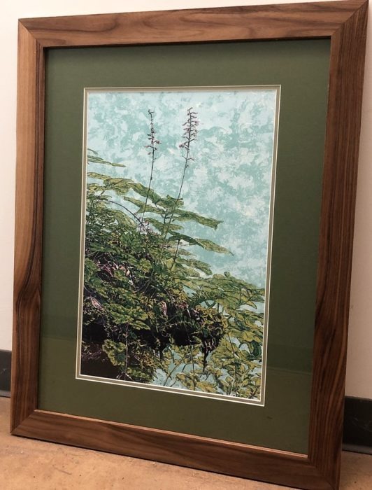 Kathy Mcghee's heartleaf foam flower framed print